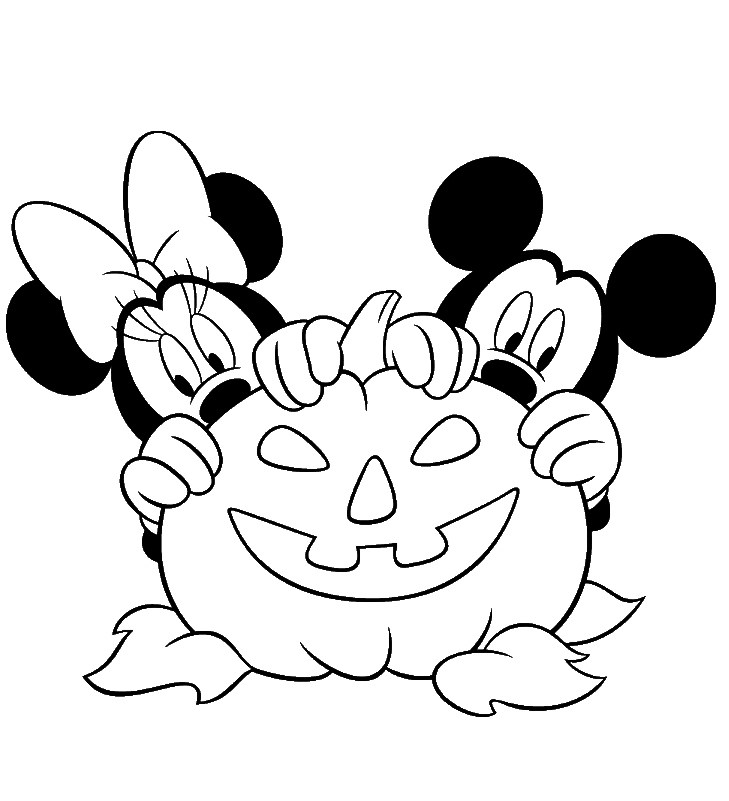 729x801 Minnie Mouse Halloween Coloring Pages Free Disney Halloween