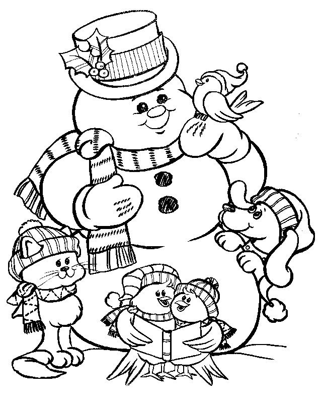 640x791 Coloring Book Pages Snowman Best Coloring Book Pages Images