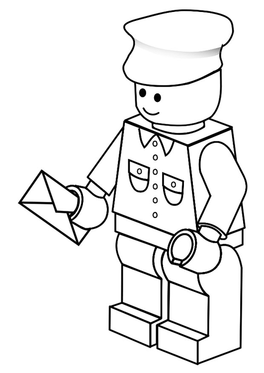 531x750 Coloring Page Postman