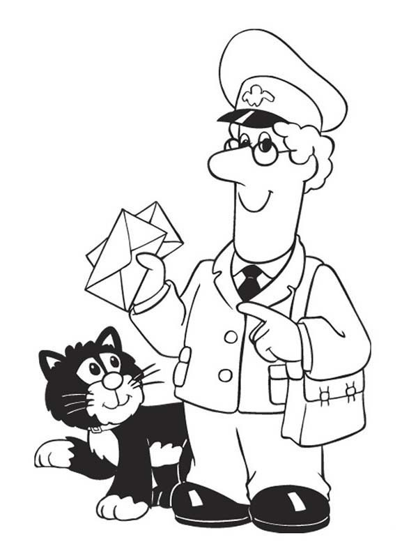 600x800 Sweet Pstman Pat Colouring Pages Postman