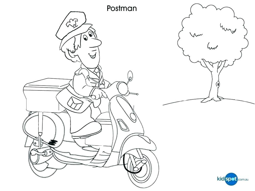 1000x750 Mailman Coloring Pages