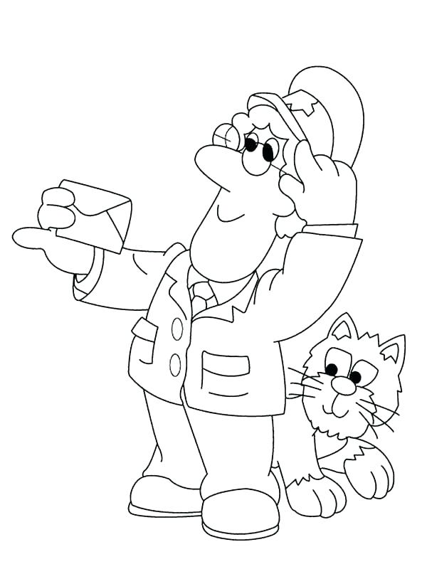 600x800 Postman Pat Coloring Pages