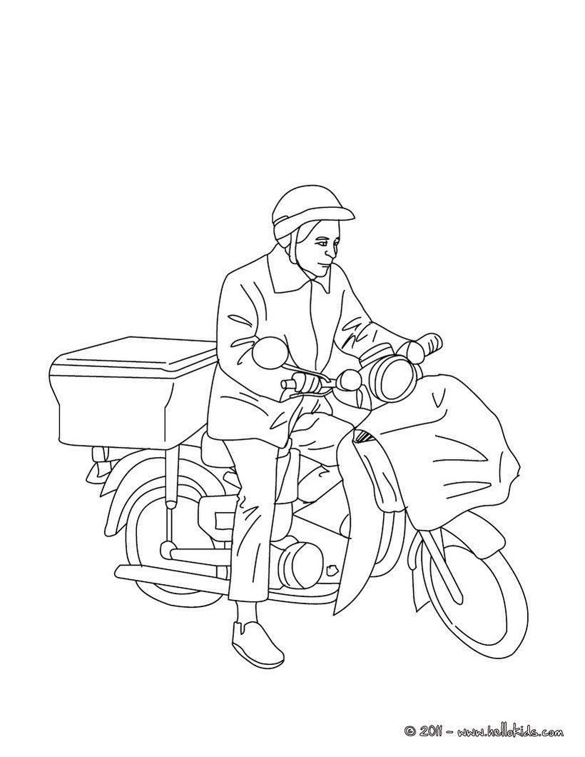 820x1060 Fresh Postman Coloring Page Design Printable Coloring Sheet
