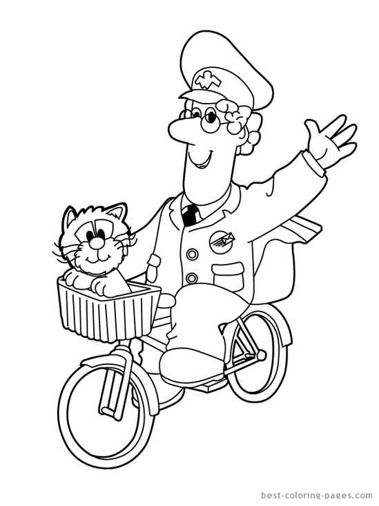 549x732 Homely Ideas Pstman Pat Colouring Pages Postman