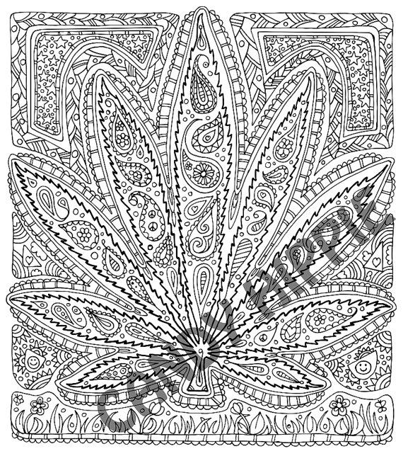 570x644 Adult Coloring Page Got Leaf Printable Pot Leaf Coloring