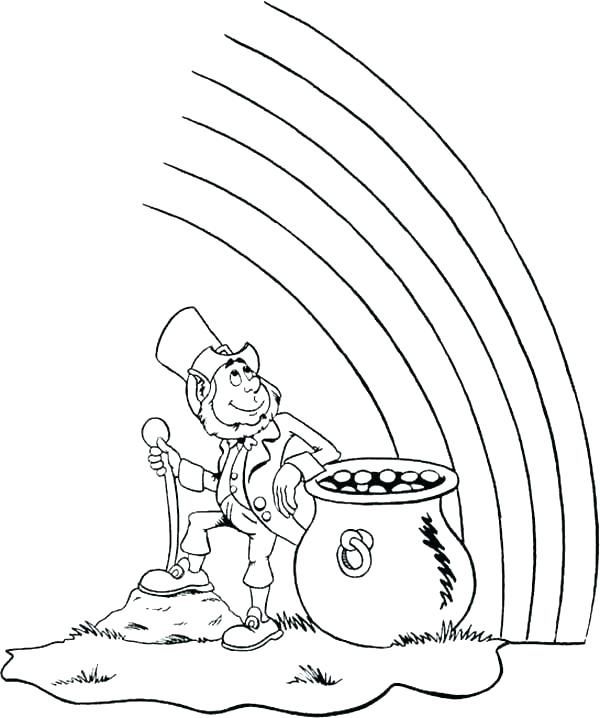 600x718 Gold Rush Coloring Pages Gold Coloring Pages Pot Of Gold Coloring
