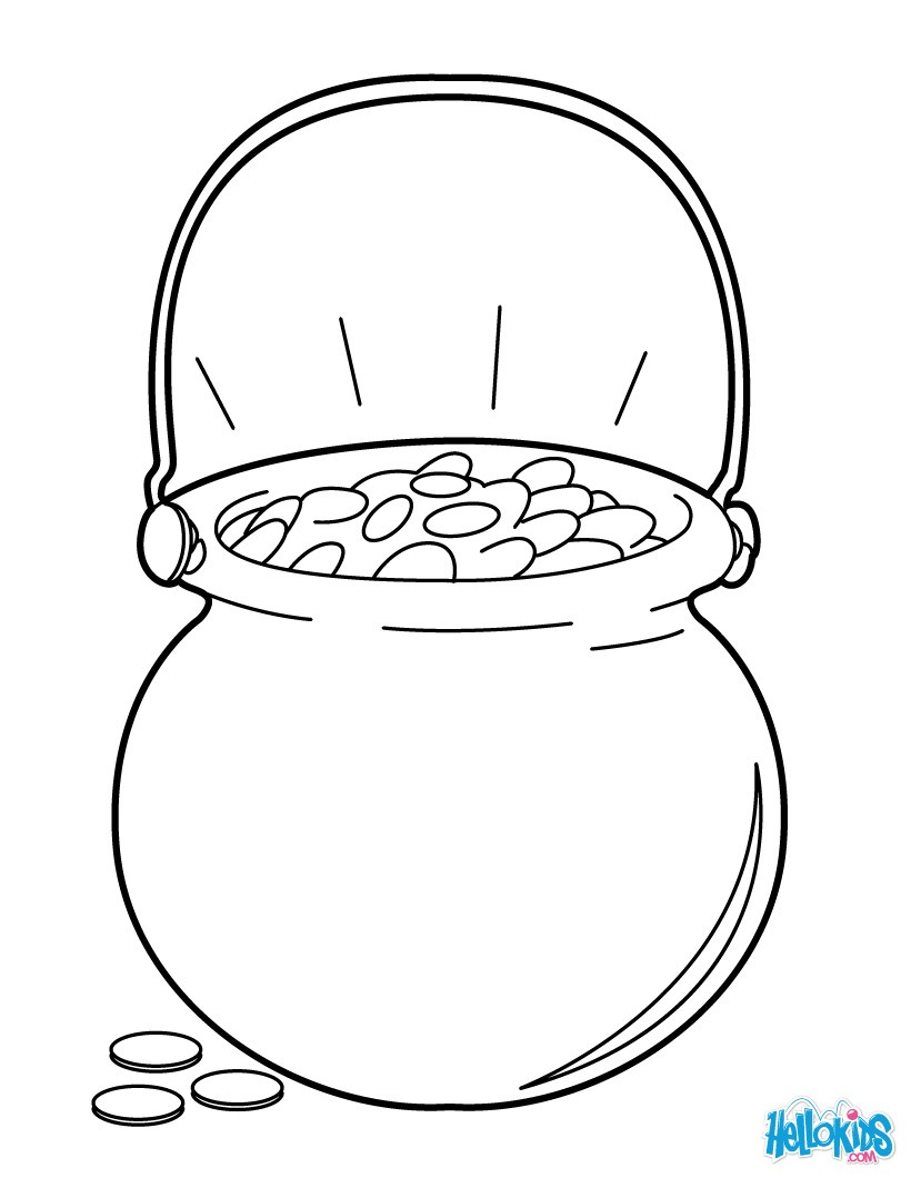 820x1060 Great Pot Of Gold Coloring Page Dragon Leprechaun With A And Mace