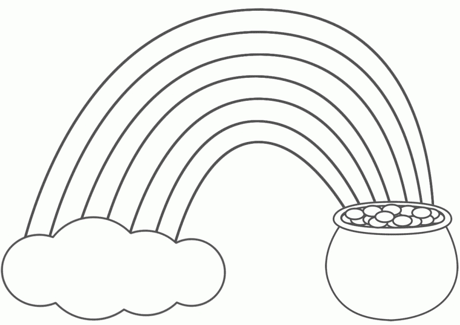940x664 Pot Of Gold Coloring Page Elegant Rainbow Pot Gold Coloring Page
