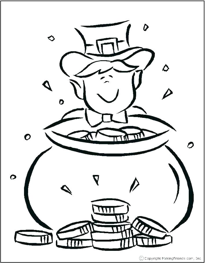 708x908 Pot Of Gold Coloring Pages Pot Of Gold Coloring Pages Rainbow