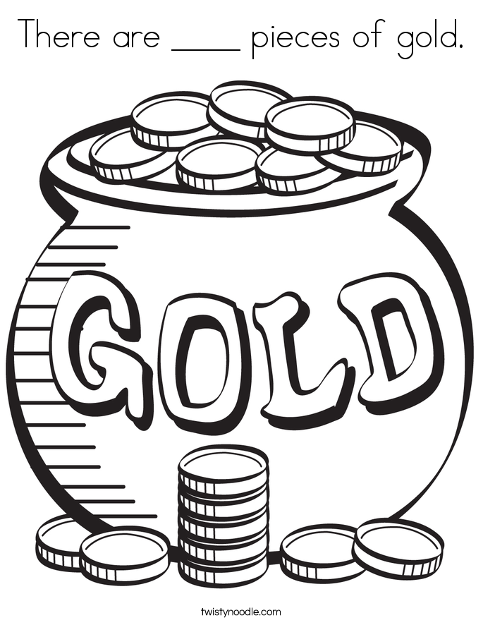 685x886 There Are Pieces Of Gold Coloring Page