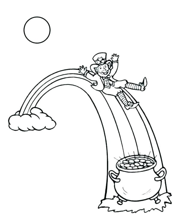 600x734 Pot Of Gold Coloring Page Printable