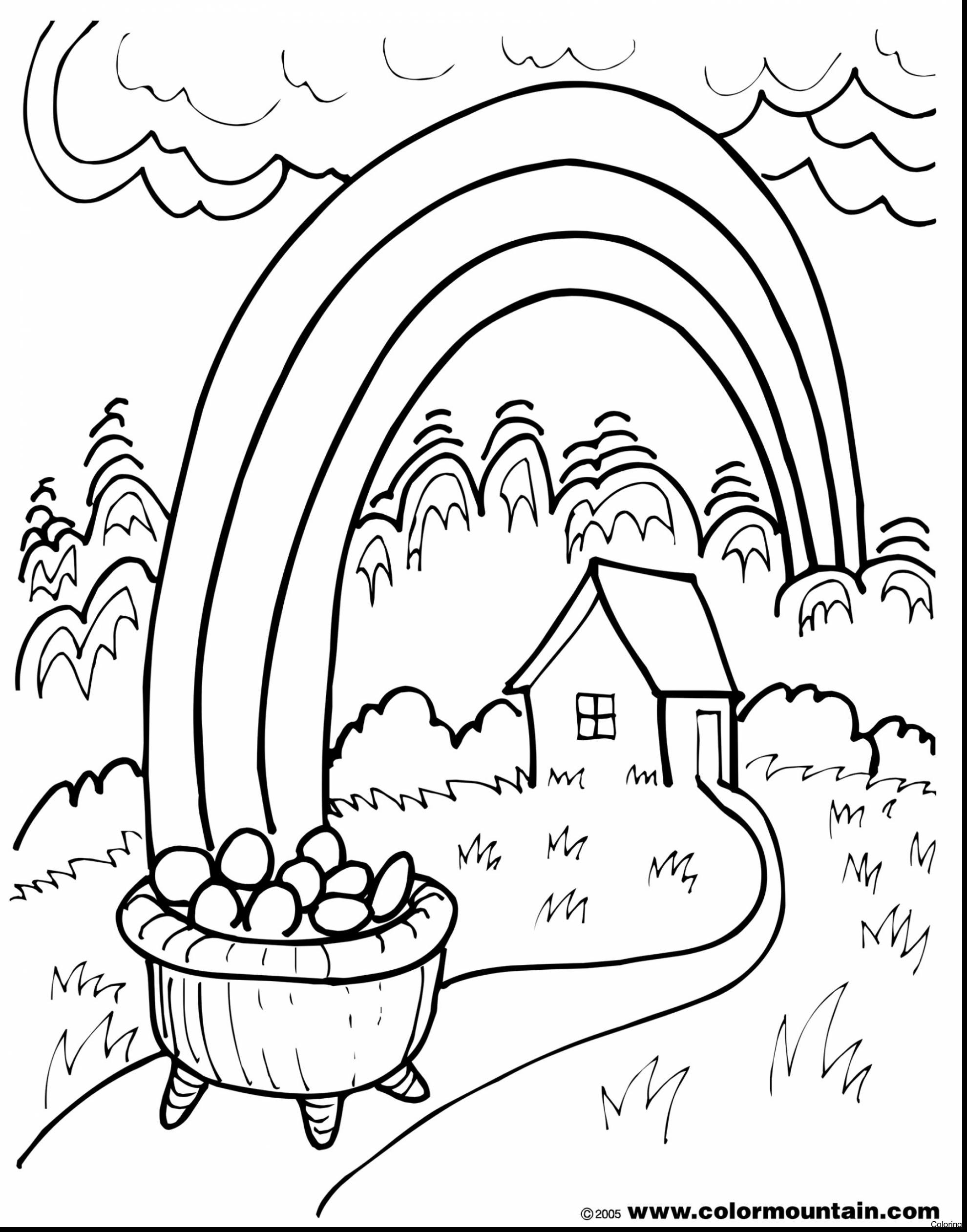 Pot Of Gold Coloring Page At Getdrawings Com Free For Personal Use
