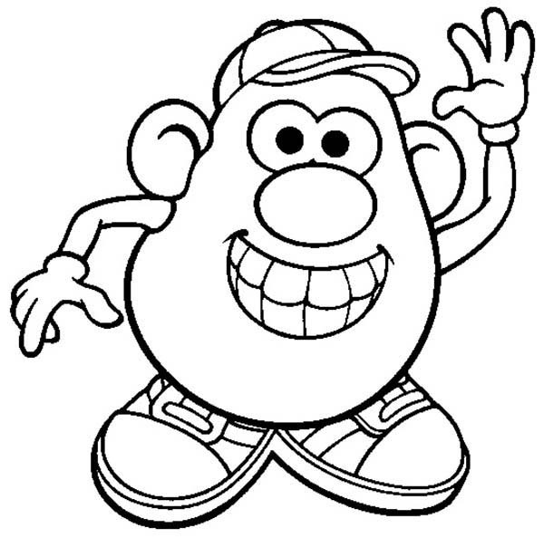 600x594 Mr Potato Head Coloring Page Best Of Mr Potato Head Coloring Page