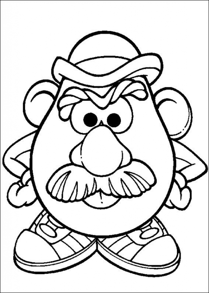 731x1024 Mr Potato Head Coloring Sheet Kids N Fun Coloring Pages Of Mr