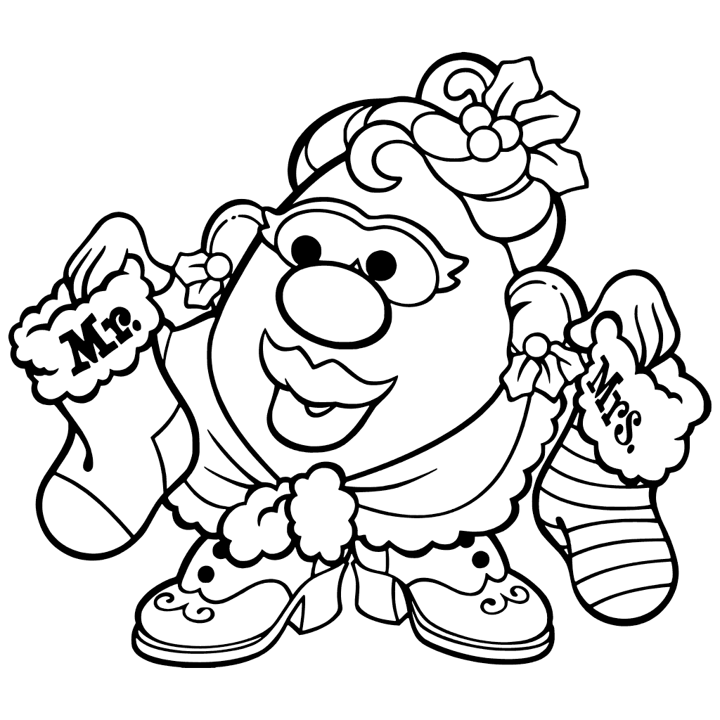 1024x1024 Toy Story Coloring Pages Mr Potato Head Mrs Printable Cartoons Mrs