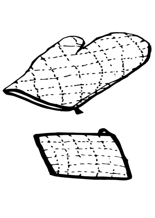 531x750 Coloring Page Oven Glove