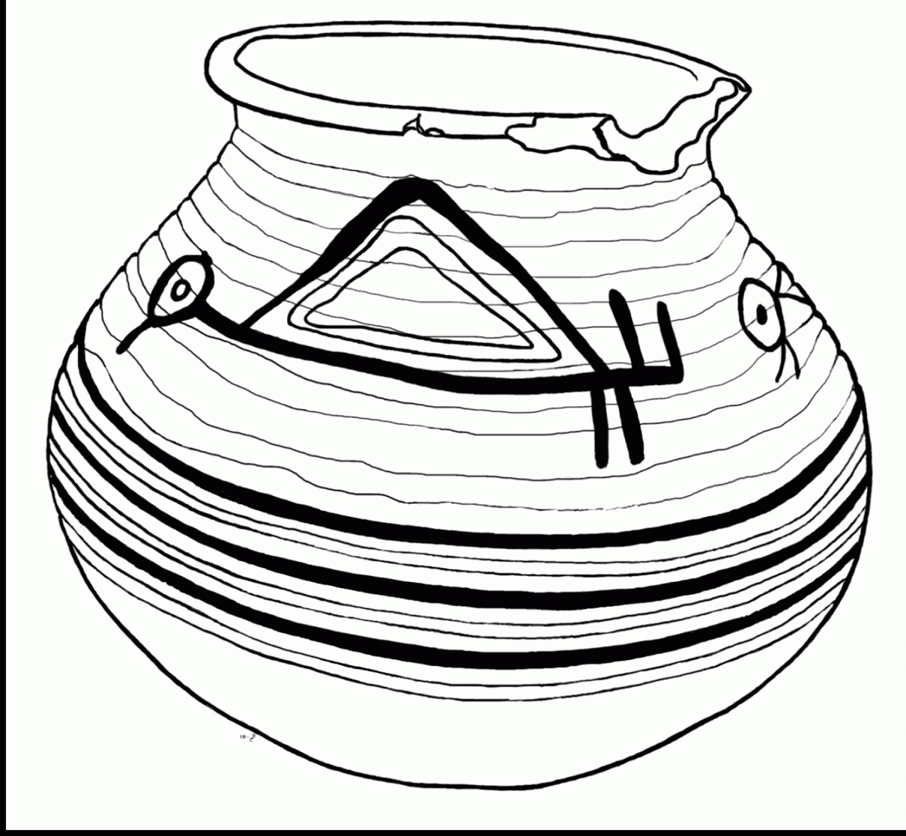 1821x1681 Stunning Pottery Pot Coloring Pages With Pot Of Gold Coloring Page