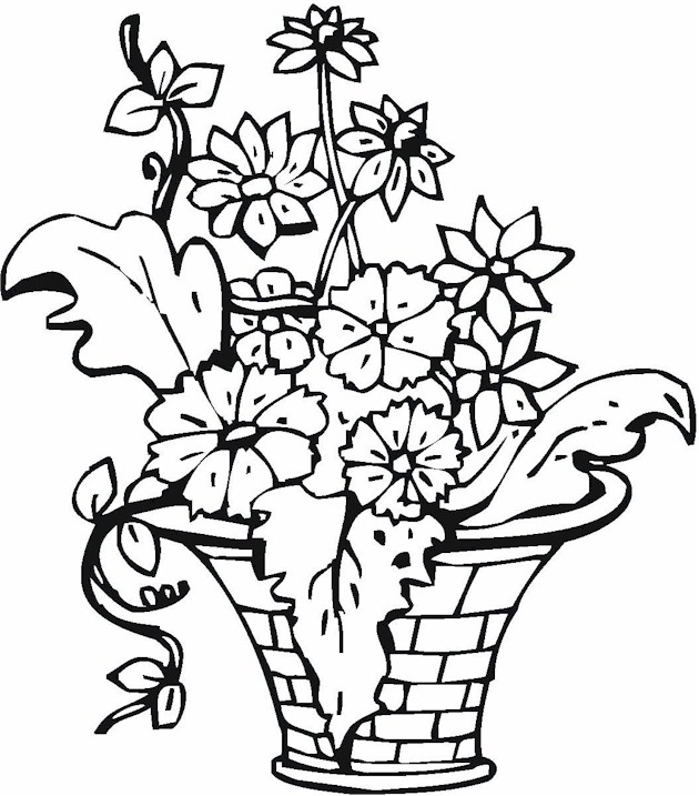 630x717 Vase Pottery Coloring Page