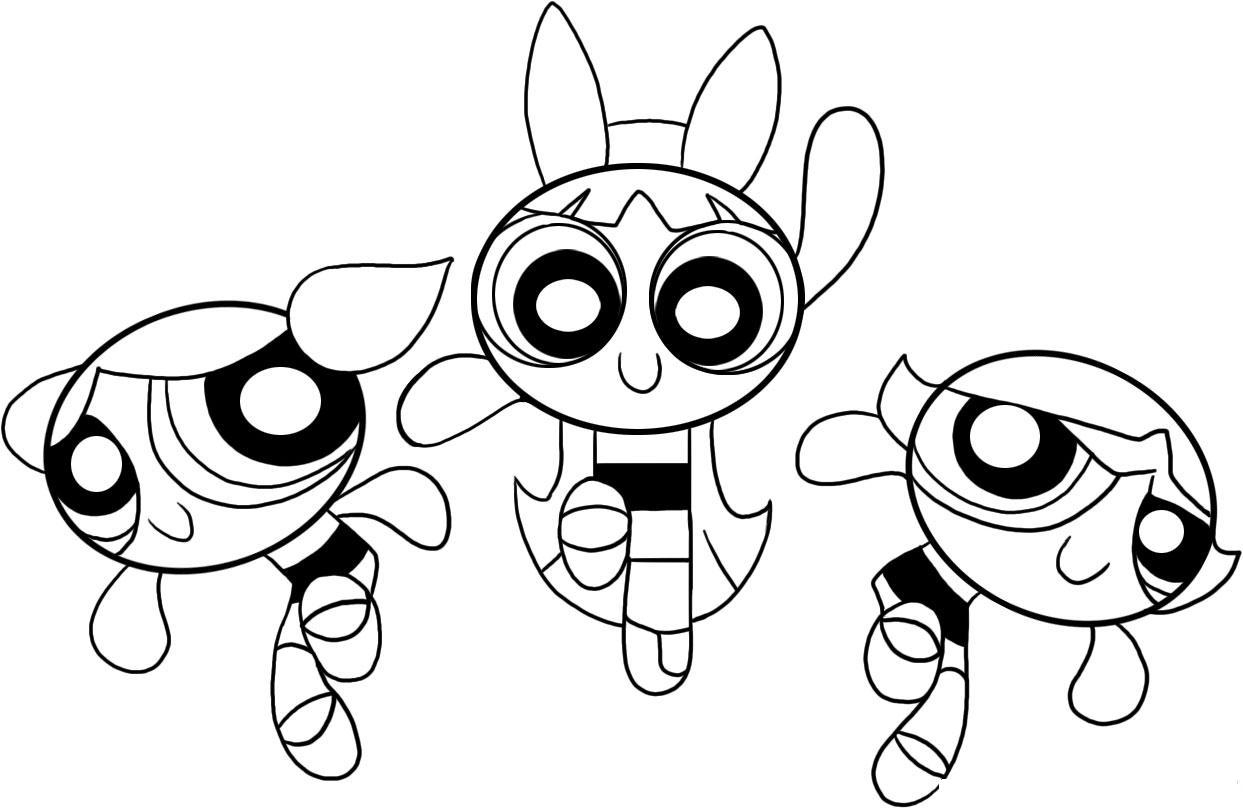 1243x808 Powder Puff Coloring Pages Free Coloring For Kids