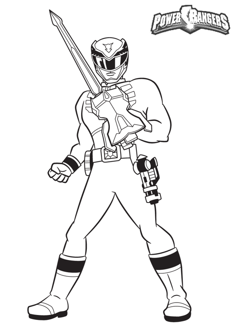 800x1120 Popular Red Power Ranger Coloring Page Rangers Guard Holding