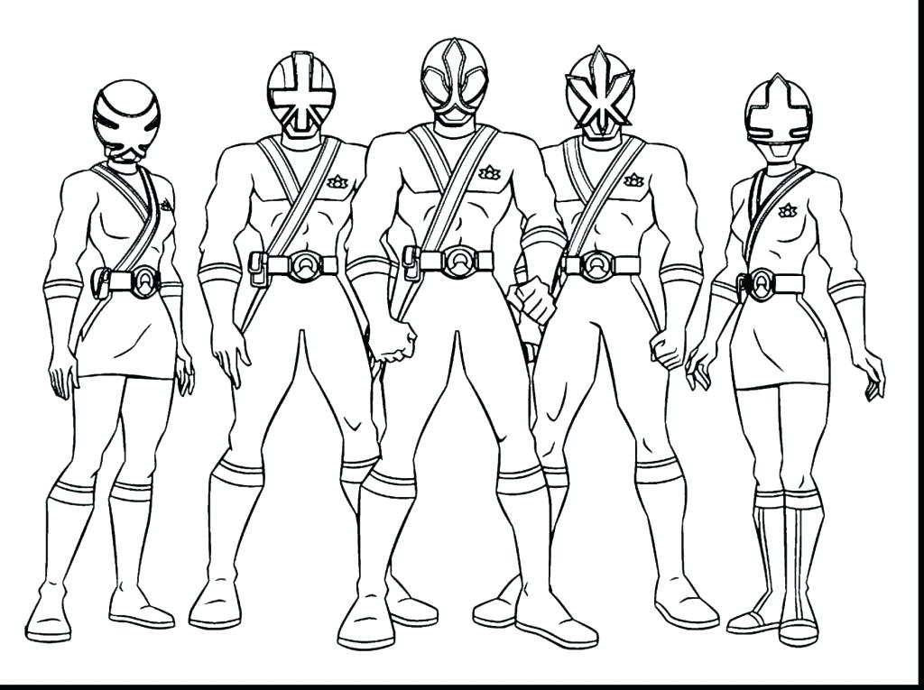 1024x765 Power Ranger Coloring Page