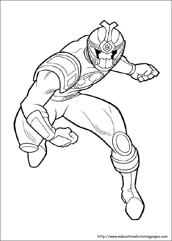 Power Ranger Mask Coloring Pages
