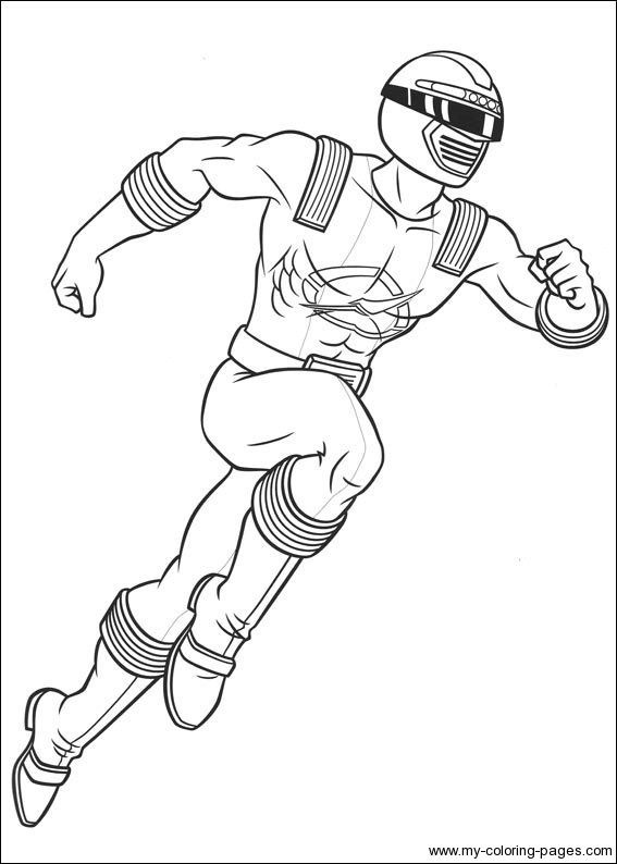 567x794 Power Rangers Operation Overdrive Coloring Pages