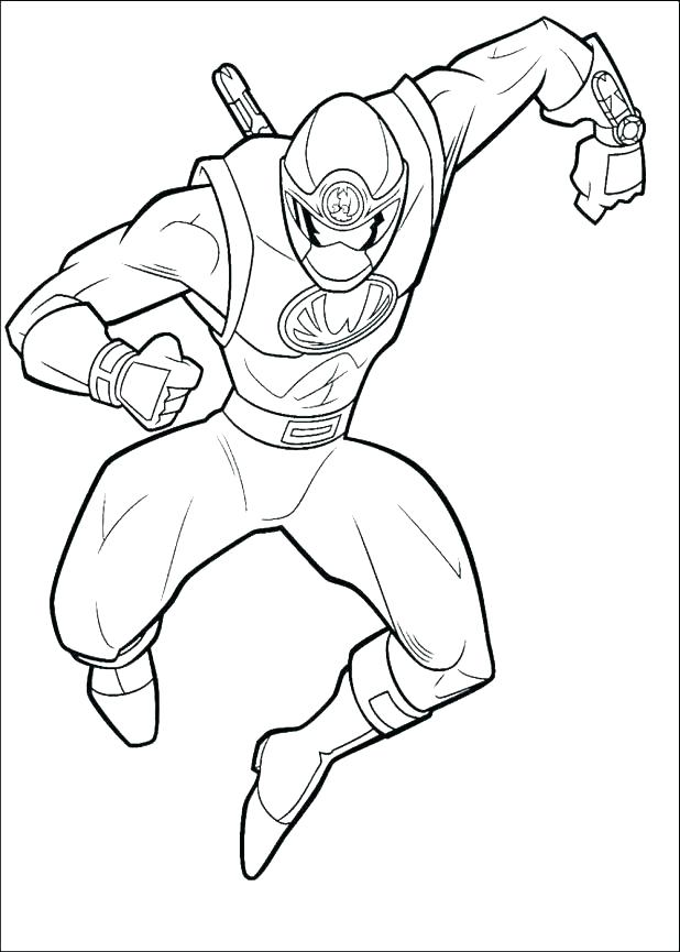 618x865 Power Rangers Samurai Zords Coloring Pages Charge Red Ranger