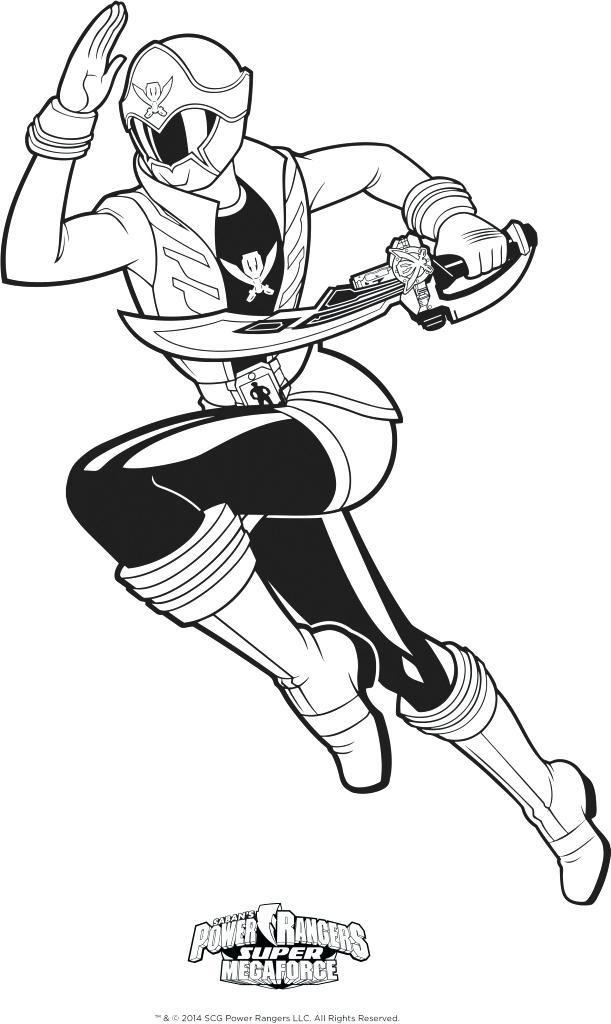 611x1024 Power Rangers Super Megaforce Para Colorear Power Rangers Super