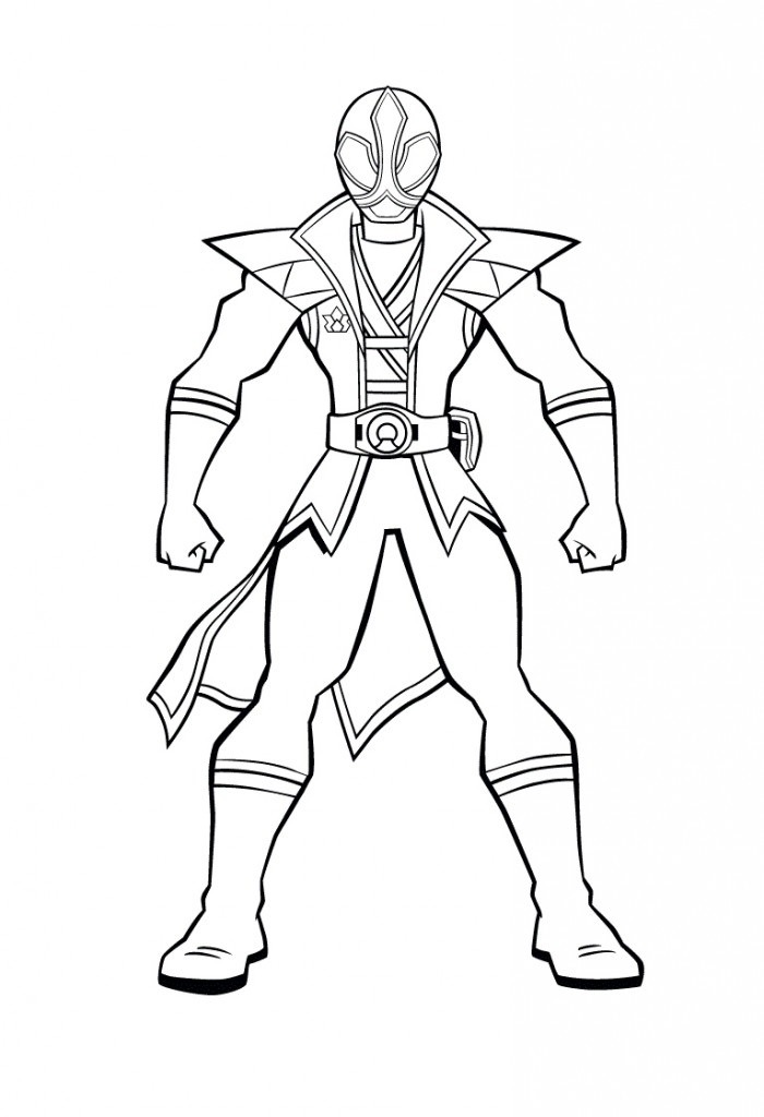 700x1024 Red Power Ranger Coloring Pages