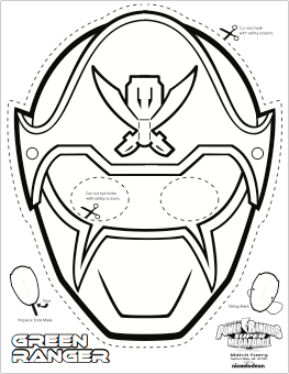 263x340 Super Mega Power Rangers Printable Coloring Masks Trinton