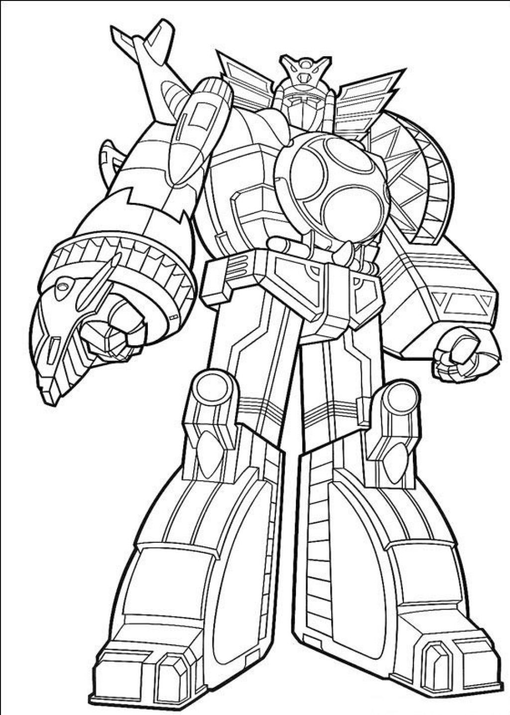 1024x1437 Power Rangers Coloring Pages