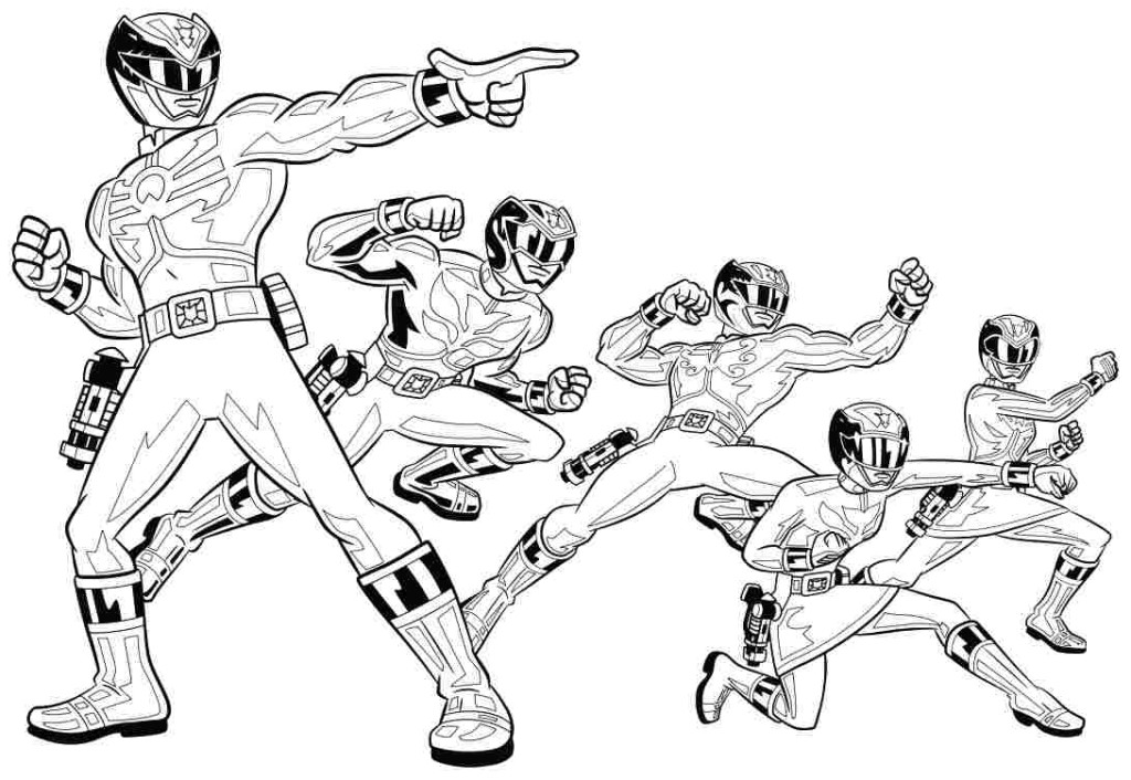 1024x706 Power Rangers Coloring Pages