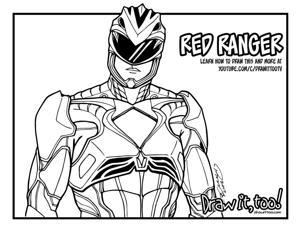 1024x791 Mighty Morphin Power Rangers Coloring Pages With Mighty Morphin