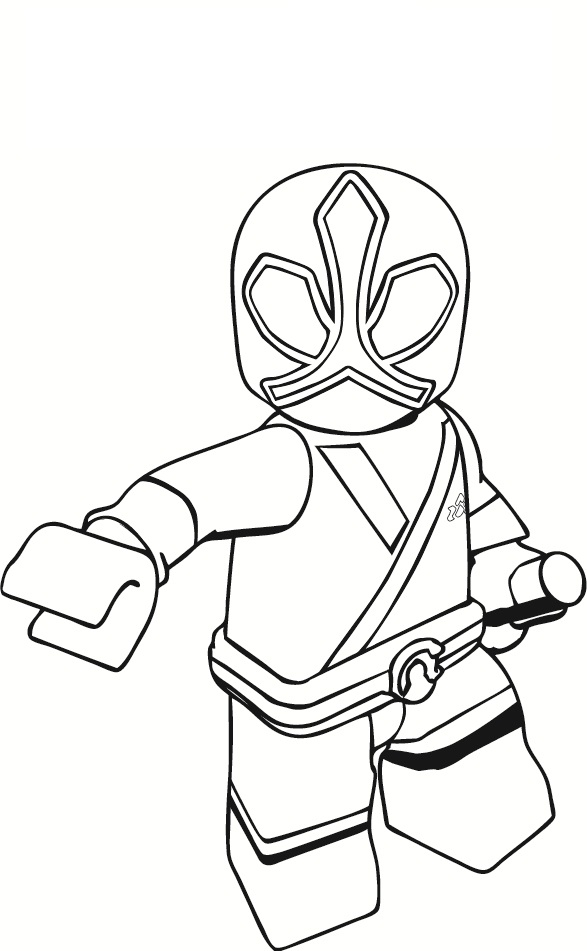 587x951 Lego Power Rangers Coloring Pages Free Printable
