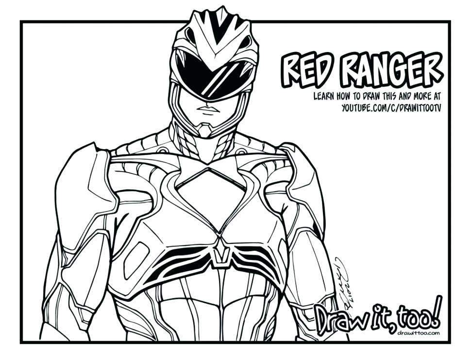 970x749 Power Rangers Dino Thunder Coloring Pages