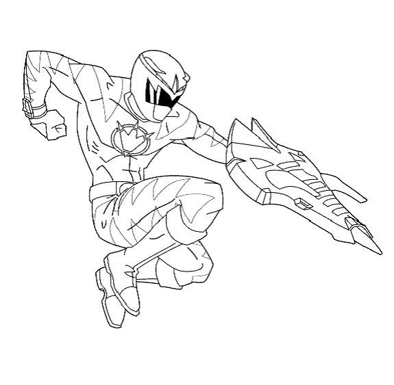 575x563 Free Coloring Pages Power Rangers Dino Thunder Dino Power Ranger