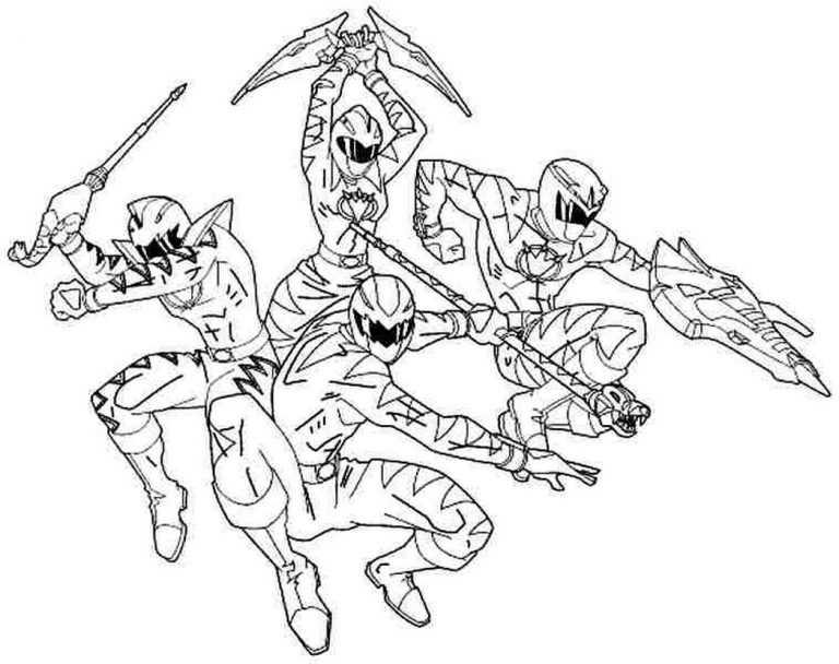 Power Rangers Dino Thunder Coloring Pages At Getdrawings Com
