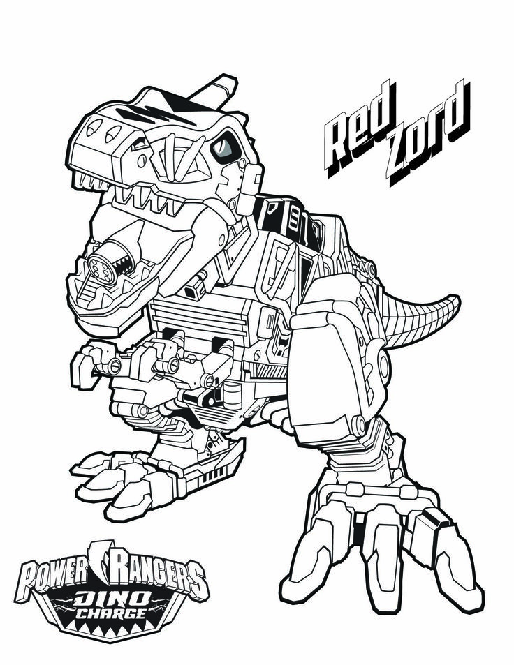 Power Rangers In Space Coloring Pages