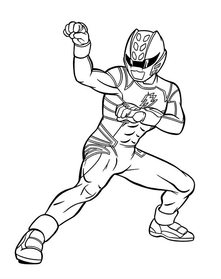 714x900 Blue Power Ranger Jungle Fury Power Rangers Coloring Pages