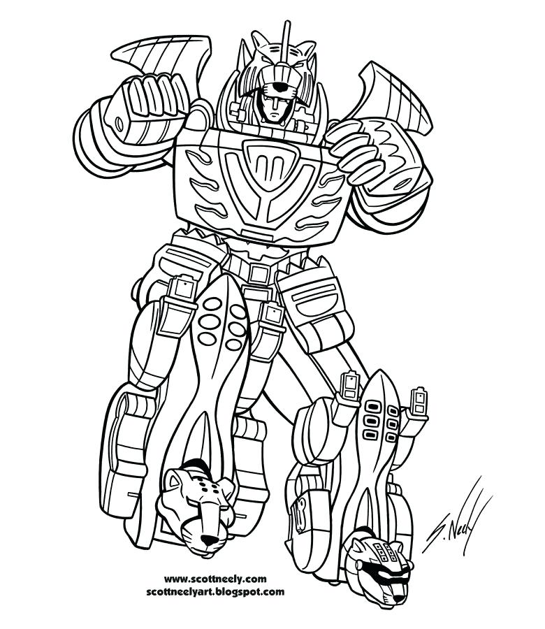 780x900 Power Rangers Hojas Para Colorear The Robot Of Power Rangers