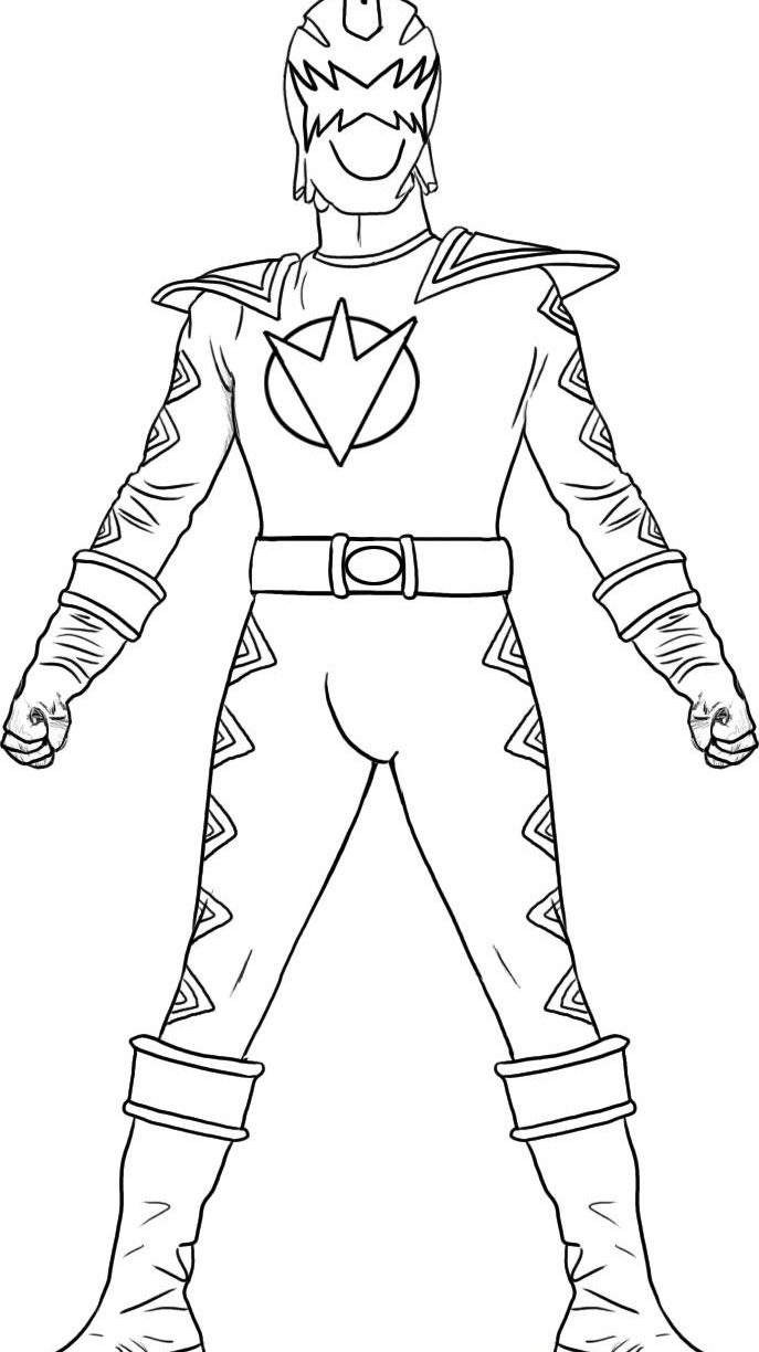 687x1224 Trendy Prsm Coloring Silver For Power Rangers Mighty Morphin Pages