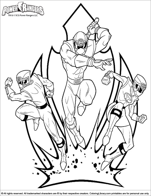 612x792 Power Rangers Megaforce Coloring Pages