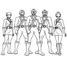 230x230 Top Free Printable Power Rangers Megaforce Coloring Pages