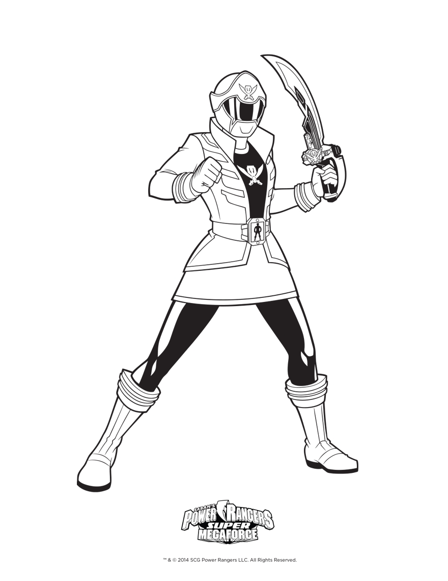 880x1139 Power Ranger Megaforce Coloring Pages To Print Free Coloring Sheets