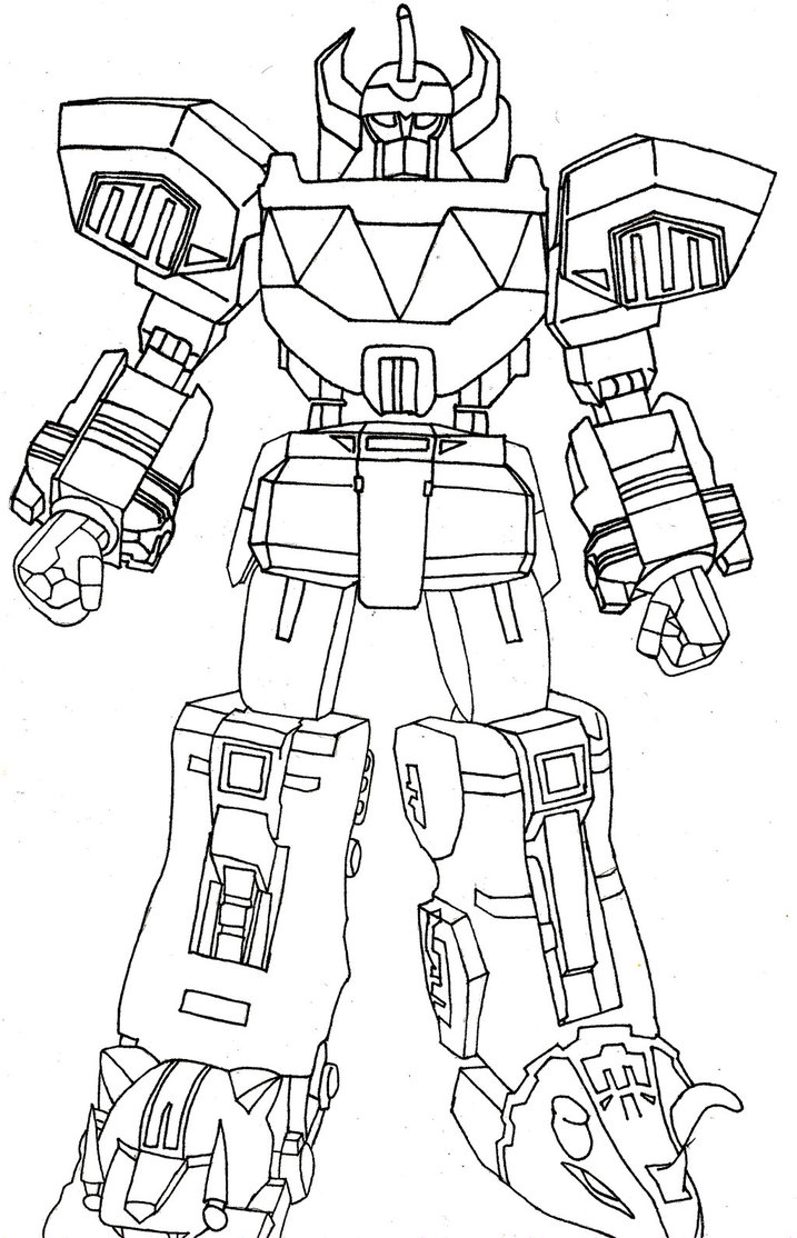 717x1114 Power Ranger Megazord Coloring Pages On Power Rangers To Pri