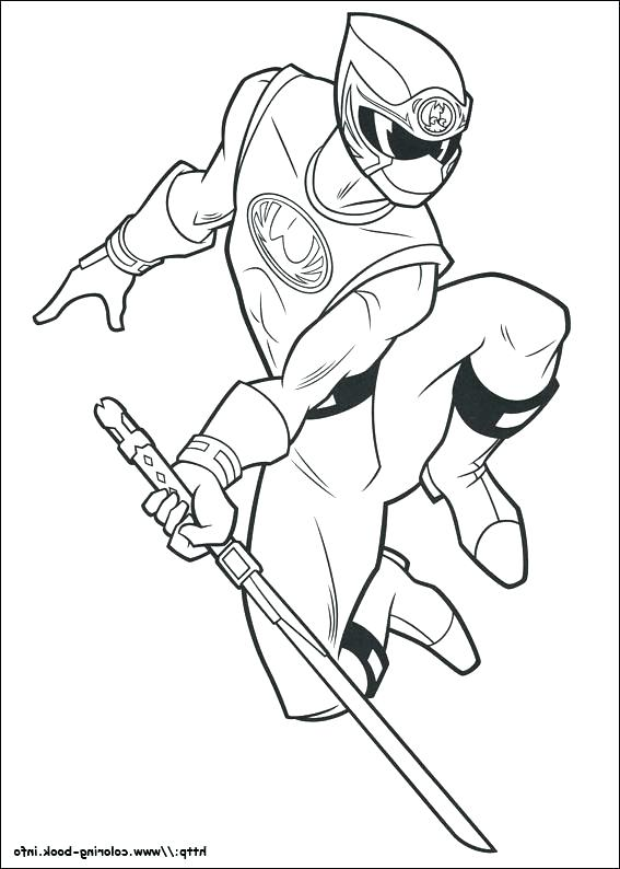 567x794 Mighty Morphin Power Rangers Coloring Pages