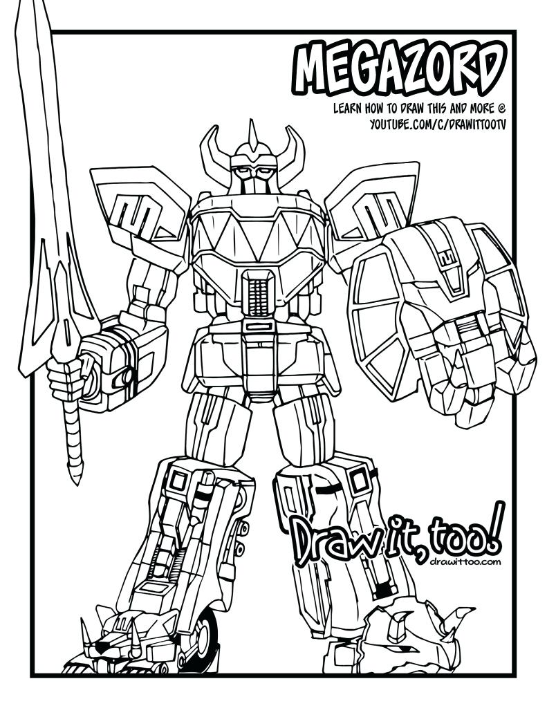 791x1024 Megazord Coloring Pages Megazord Coloring