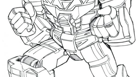 585x329 Megazord Coloring Pages Coloring Book