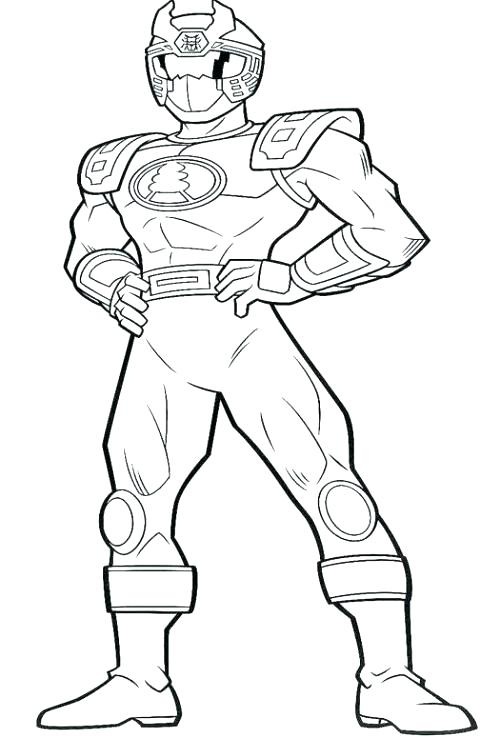500x738 Power Rangers Deathly Punch Coloring Page Color Power Rangers